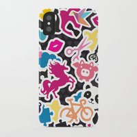 sticker iPhone & iPod Cases featuring Sticker Frenzy by XOOXOO