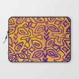 boho yellow Laptop Sleeve