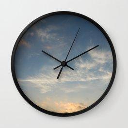 Playful Morning Clouds Wall Clock