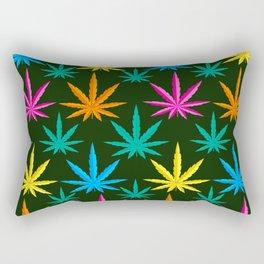 Colorful Marijuana weed Rectangular Pillow