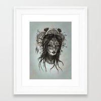 witch Framed Art Prints featuring witch by ASTRA ZERO