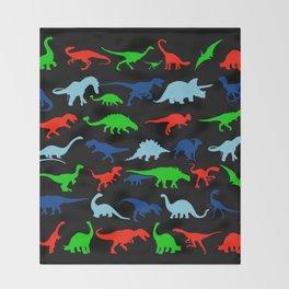 silhouettes of dinosaur pattern Throw Blanket