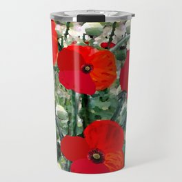 Surreal Poppy Garden Travel Mug