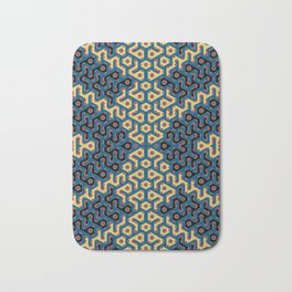 Squiggle Trails Most Awesome Yellow Red Blue and Black Bath Mat