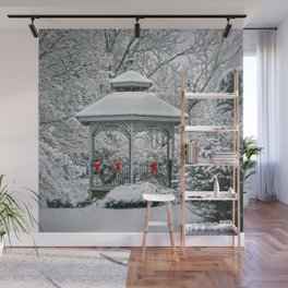 Gazebo in the Snow Wall Mural