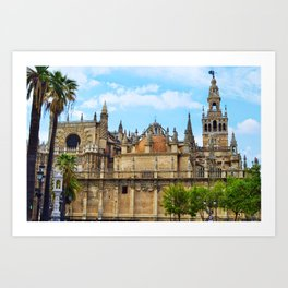 Seville Cathedral Art Print
