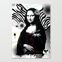 mona lisa Canvas Prints featuring mona lisa by MiSHiO DESIGN