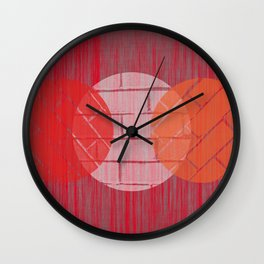 THREE BRICKS ON SPLINTERED WOOD  Wall Clock
