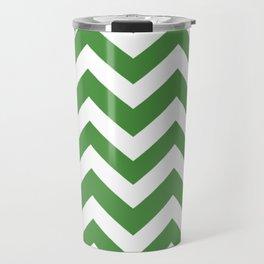 May green - green color - Zigzag Chevron Pattern Travel Mug