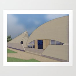Building Of The Future From A Forgotten Past Art Print