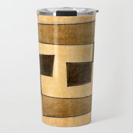 Protoglifo 03 'brown dance' Travel Mug