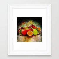 fruits Framed Art Prints featuring fruits by ErsanYagiz