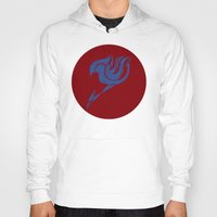 fairy tail Hoodies featuring Fairy Tail Segmented Logo (Erza) circle by JoshBeck