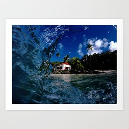 Cinnamon Bay memory glance Art Print