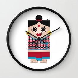 Nepali Girl Wall Clock