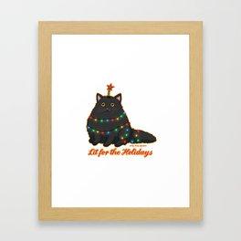 Lit for the Holidays Framed Art Print