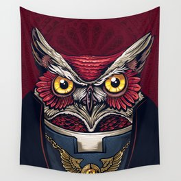 Owl Priest Wall Tapestry