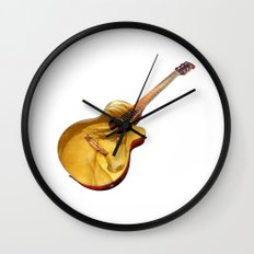 The guitar is a lady Wall Clock
