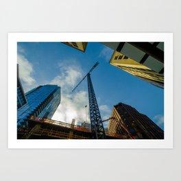 Sky Cranes Art Print