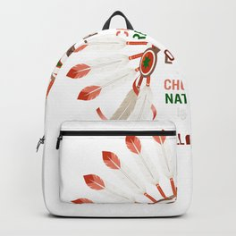 Earth Is My Church Nature Is My Religion Gift Nature  Wisdom Native American Indian Backpack