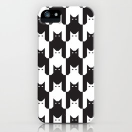 Cats Dog Tooth Pattern iPhone Case