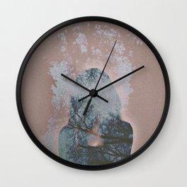 Hiding Behind Wall Clock