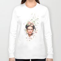 frida Long Sleeve T-shirts featuring Frida by Tracie Andrews