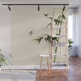 Oriental style bamboo branches 001 Wall Mural
