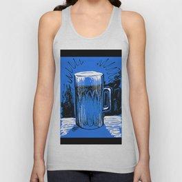Beer_Blue Unisex Tank Top