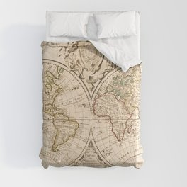 Mappemonde a l'usage du roy (World Map from 1720) Comforters
