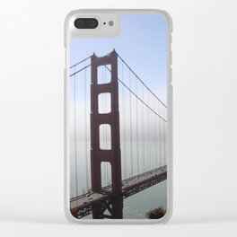 Golden Gate Bridge On A Foggy Morning Clear iPhone Case
