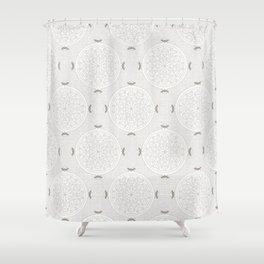 Snow Rosette Lace Shower Curtain