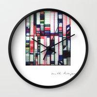 skyline Wall Clocks featuring SKYLINE by Ruth Hagen