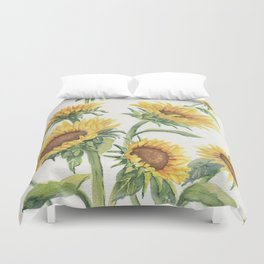 Blooming Sunflowers Duvet Cover