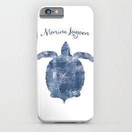 Turtle Marine Lagoon habitat iPhone Case
