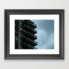 Half building in Bilbao (Spain) Framed Art Print