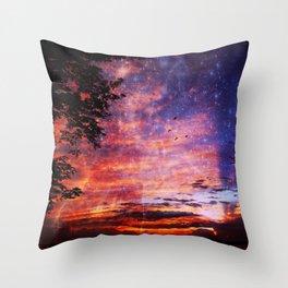 Stars in a Sunset Throw Pillow