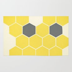 Yellow Honeycomb Rug