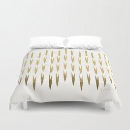 Gold Cattails Duvet Cover