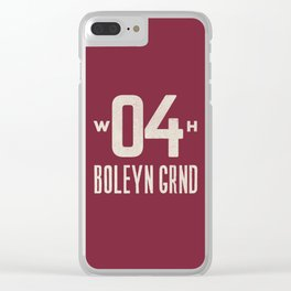 Upton Park Football Ground Clear iPhone Case