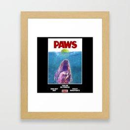 PAWS: a Framed Art Print