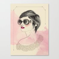 sunglasses Canvas Prints featuring Sunglasses by Rosaria Degennaro Illustrations