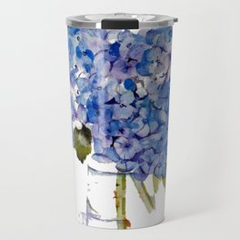 Hydrangea painting Travel Mug