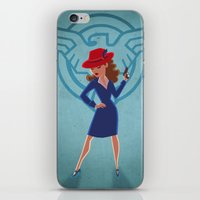 peggy carter iPhone & iPod Skins featuring Agent Peggy Carter by Terry Blas