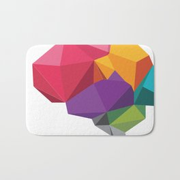 creative brain Bath Mat