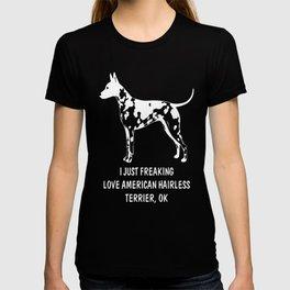 American-Hairless-Terrier-tshirt,-just-freaking-love-my-American-Hairless-Terrier T-shirt