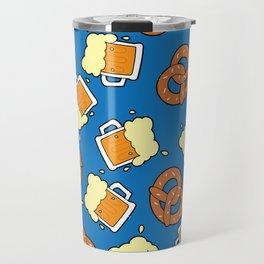 Beer and pretzel pattern Travel Mug