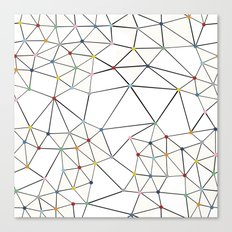 Seg with Color Spots White Canvas Print