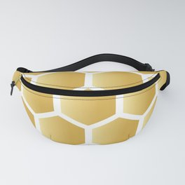 Honeycomb pattern - gold Fanny Pack