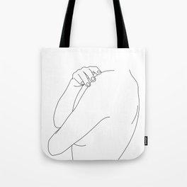 Nude figure line drawing illustration - Ember Tote Bag